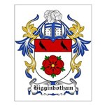 Higginbotham Coat of Arms Small Poster