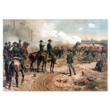 Digitally restored Civil War artwork featuring Gen