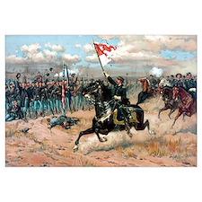 Digitally restored Civil War color print celebrati