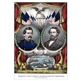 Digitally restored Civil War era Campaign Poster f