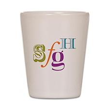 SFGH Mix type logo Shot Glass