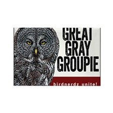 Great Gray Groupie Rectangle Magnet