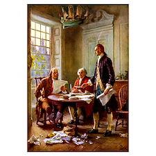 Digitally restored vector painting of Franklin, Ad