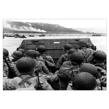 Digitally restored vector photo of American troops