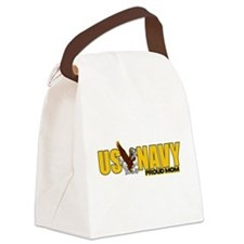 Proud Navy Mom Canvas Lunch Bag