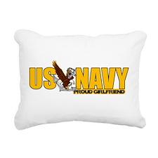 Proud Navy Girlfriend Rectangular Canvas Pillow