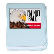 I'm Not Bald! Bald Eagle baby blanket