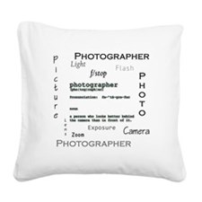 Photographer-Definitions.png Square Canvas Pillow