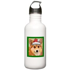 Santa Corgi Water Bottle