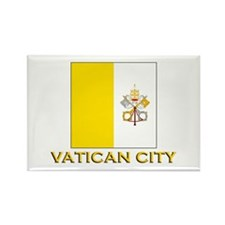 Vatican City Flag Gear Rectangle Magnet