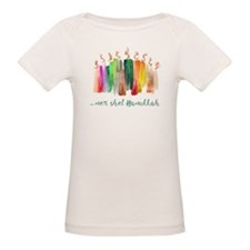 Chanukah Paintbrush Menorah Tee