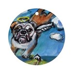 angelbulldog.jpg Ornament (Round)