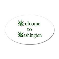 Welcome to Washington Marijuana 20x12 Oval Wall De