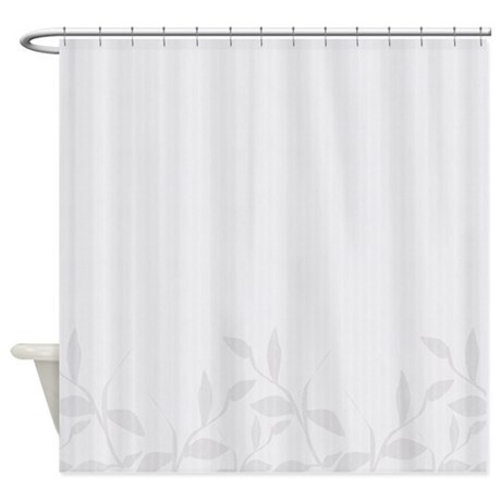 gifts asian floral bathroom d cor white foliage shower curtain
