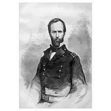 Digitally restored vector portrait of Civil War Ge