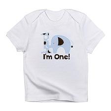 Im ONE Blue elephant Infant T-Shirt