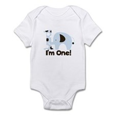 Im ONE Blue elephant Infant Bodysuit