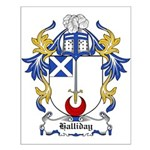 Halliday Coat of Arms Small Poster
