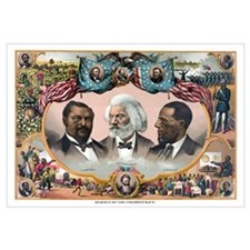 Digitally restored vintage American History print