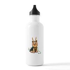Christmas Yorkie Water Bottle