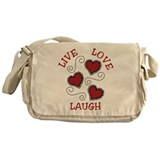 Live Love Laugh Messenger Bag