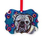 Bulldog bubbles Picture Ornament
