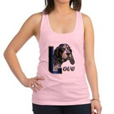 Love Bluetick Coonhound ears.png Racerback Tank To