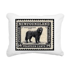 Newfoundlanddogstamp.jpg Rectangular Canvas Pillow