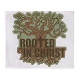 Rooted in Christ Throw Blanket