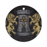 Tower and Lions Ornament (Round)