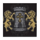 Tower and Lions Tile Coaster