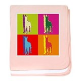 Great Dane Silhouette Pop Art baby blanket