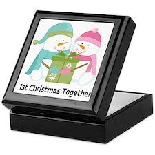 1st Christmas Together Snowmen Keepsake Box