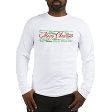 Merry Christmas language Long Sleeve T-Shirt