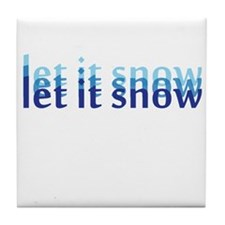 Let it Snow Tile Coaster
