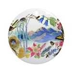 Mountain Wildflowers Ornament (Round)