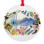 Mountain Wildflowers Round Ornament