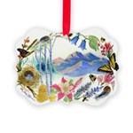 Mountain Wildflowers Picture Ornament