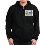 Mountain Wildflowers Zip Hoodie (dark)