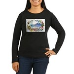 Mountain Wildflowers Women's Long Sleeve Dark T-Sh