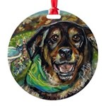 Portrait of Angie Round Ornament