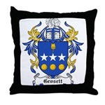 Grosett Coat of Arms Throw Pillow
