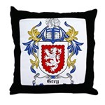 Grey Coat of Arms, Family Cre Throw Pillow