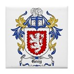 Grey Coat of Arms, Family Cre Tile Coaster