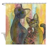 Sesame and Tigerlily Shower Curtain