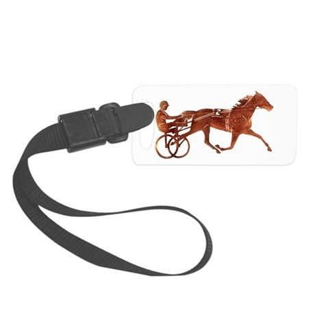 Brown Pacer Silhouette Small Luggage Tag