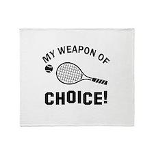 Lawn Tennis designs Throw Blanket