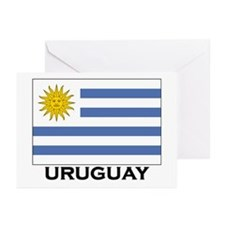 Uruguay Flag Merchandise Greeting Cards (Package o