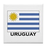 Uruguay Flag Merchandise Tile Coaster