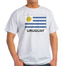Uruguay Flag Merchandise Ash Grey T-Shirt
